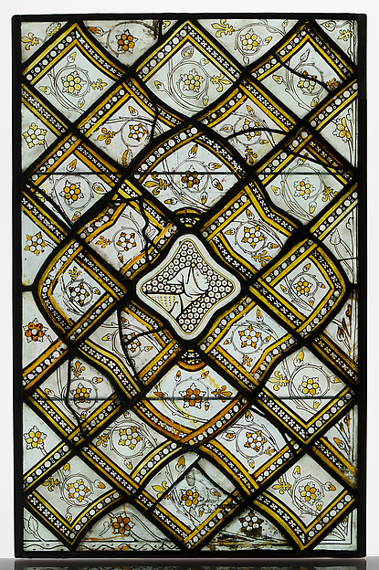Panels of Grisaille Glass with Grostesques