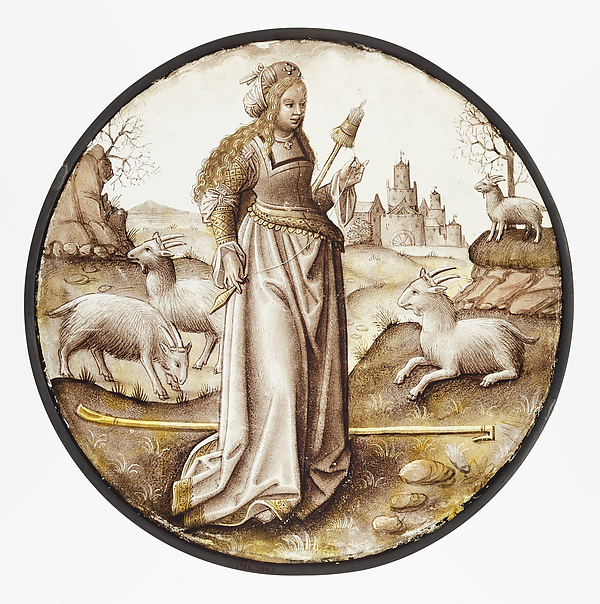 Roundel with Allegorical Figure