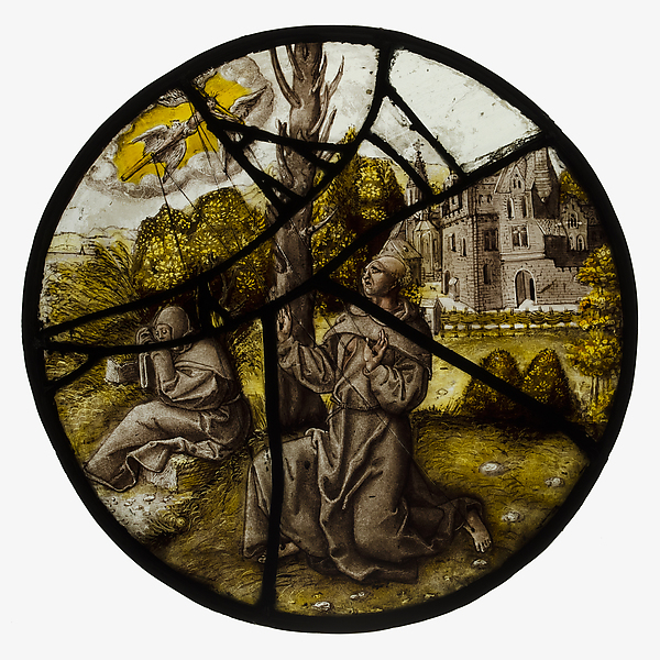Roundel with Saint Francis Receiving the Stigmata