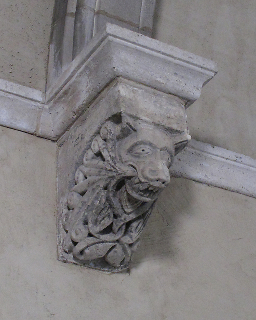 Corbel with Animal Mask of Wolf