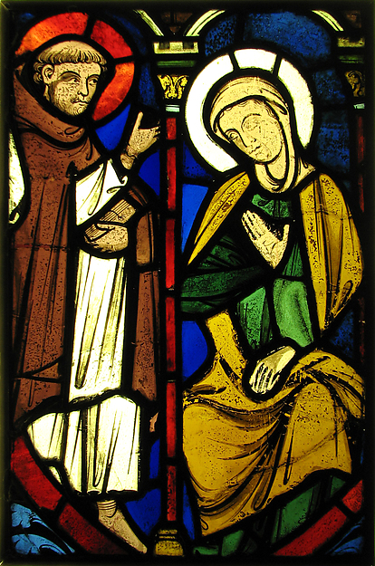 The Virgin from a Pentecost Scene and the Figure of St. Martin