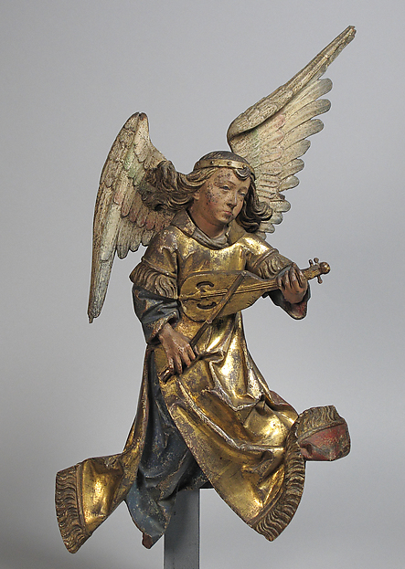 Sculpture of Angel with Rebec