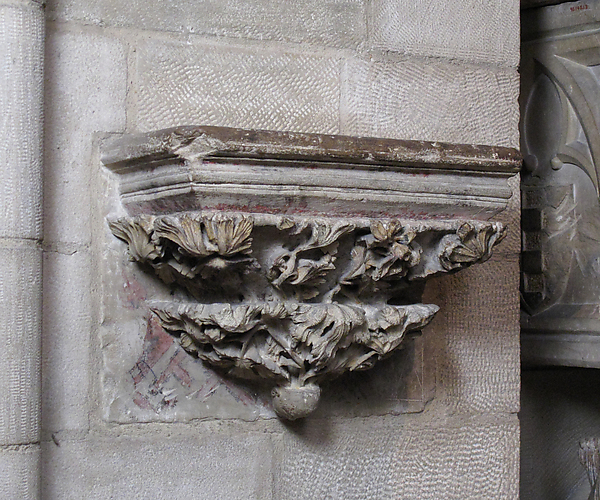 Corbel from the Double Sepulchral Monument of Don Àlvar Rodrigo de Cabrera, Count of Urgell and His Wife Cecília of Foix