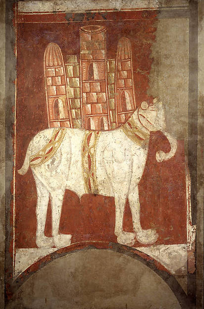Fresco, with elephant