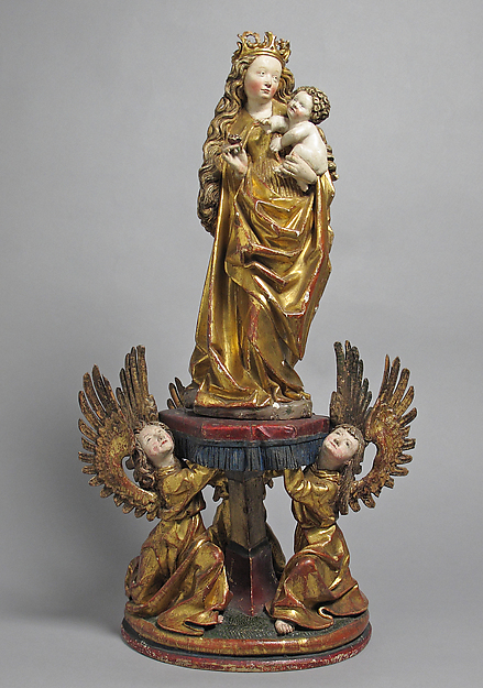 Virgin and Child Supported by Angels