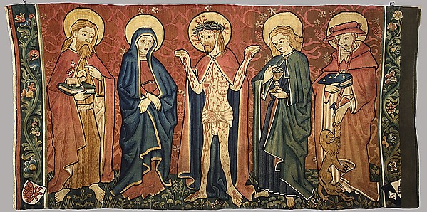 Altar Frontal with Man of Sorrows and Saints