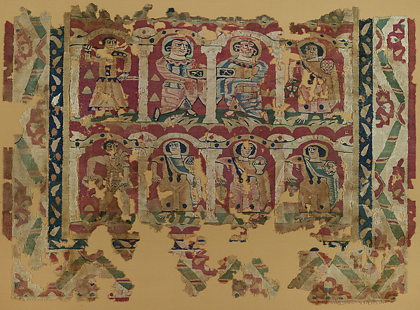 Fragments of a Wall Hanging with Figures in Elaborate Dress