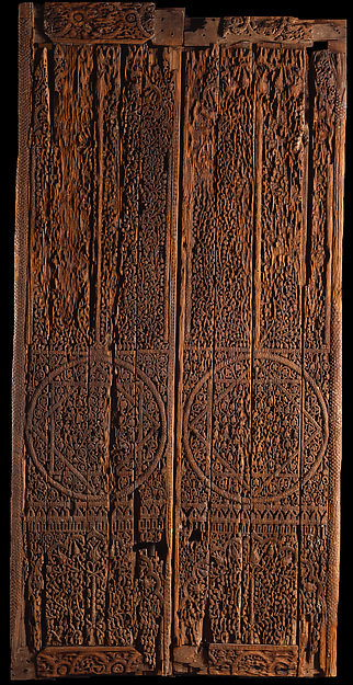 Pair of Doors with Carved Decoration