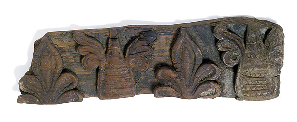 Fragment of a Frieze with Winged Pinecones and Palmettes