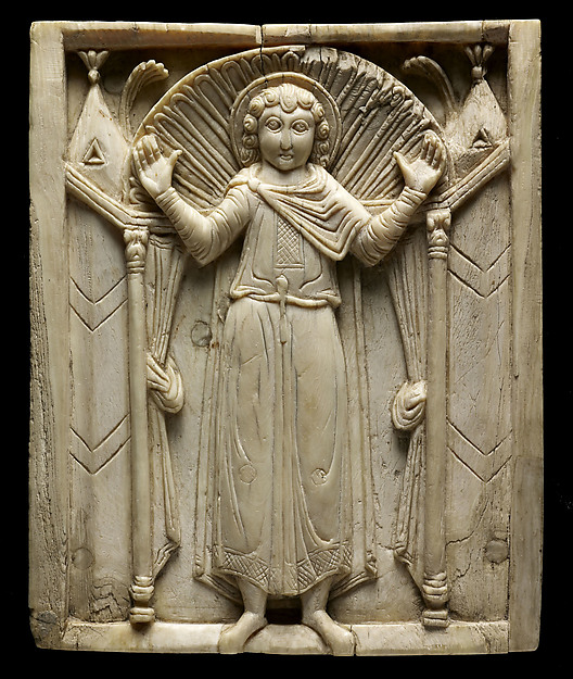 Ivories of the So-Called Grado Chair: Saint in Orant Pose