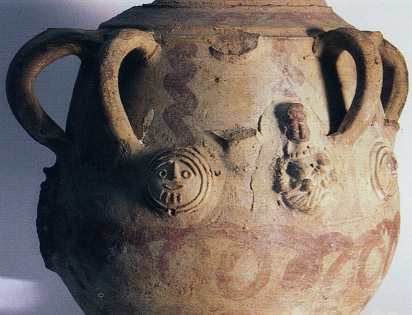Storage Vessel with Applied Decoration