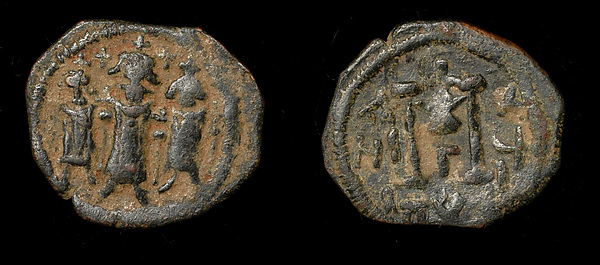 Imitation of Heraclius Follis of Cyprus