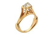 Octahedral Diamond Ring