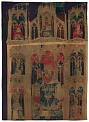 King Arthur and Attendants (acc. nos. 32.130.3a and 47.101.4 from the Nine Heroes Tapestries)