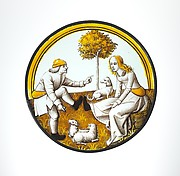 Roundel with Playing at Quintain