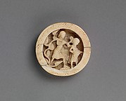 Game Piece with the Blinded Samson Led by a Boy to the Philistine Temple of Dagon