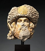 Head of Saint James the Greater with Sheepskin Hat with Scallop Shell