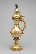 Ewer with Wild Man Finial