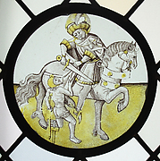 Roundel with Saint Martin and the Beggar