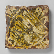 Two-Colored Tile with arms of England