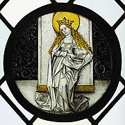 Roundel with Saint Agnes