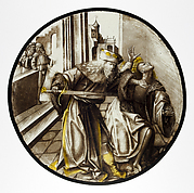 Roundel with Joab Murdering Abner