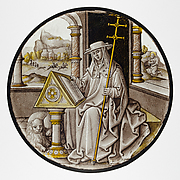 Roundel with Saint Jerome in his Study