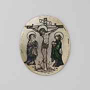 Enamel Plaque with the Crucifixion