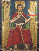Panel with Saint John the Baptist Enthroned from Retable