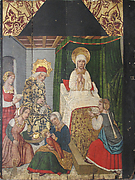 Panel with the Birth of St. John the Baptist from Retable