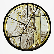 Roundel with Saint Anne with the Virgin and Child