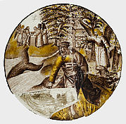Roundel with Tobias Drawing the Fish from the Water