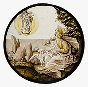 Roundel with Saint John on Patmos