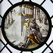 Roundel with Mordecai Overhearing the Conspirators