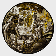 Roundel with Souls Tormented in Hell