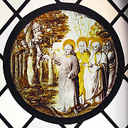 Roundel with Christ and Zacchaeus