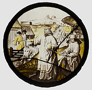 Roundel with Joseph Buying Corn in Egypt