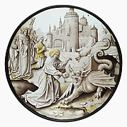 Roundel with Daniel Slaying the Dragon
