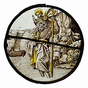 Roundel with Saint Christopher