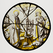 Roundel with the Crucifixion, the Virgin, and Saint John