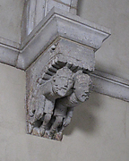 Corbel with Two Men with Fingers in Mouths