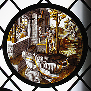 Roundel with the Blinding of Tobit (from a Series)