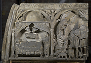 Tympanum Section with the Nativity and Annunciation to the Shepherds