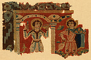 Fragment of a Wall Hanging with Figures in Elaborate Dress