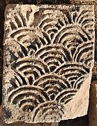 Block Carved with a Fan Pattern