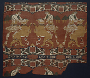 Silk with &quot;Samson&quot; and a Lion