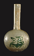 Flask with Green Cameo Decoration