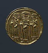 Dinar of Byzantine Type with Arabic Inscriptions