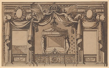 Elevation of a Royal Bedroom