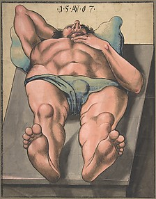 Male Nude Lying on a Table